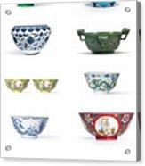 Asian Art Chinese Pottery Acrylic Print