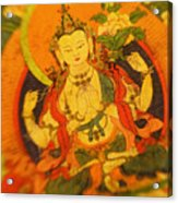 Asian Art Textile Acrylic Print