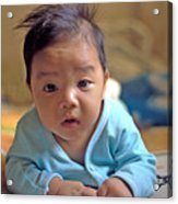 Asian Baby Acrylic Print by Atul Daimari