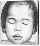 Asian Baby Acrylic Print