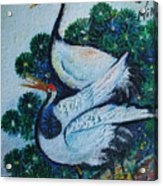 Asian Cranes 1 Acrylic Print