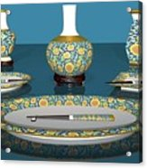 Asian Dining And Vases Acrylic Print