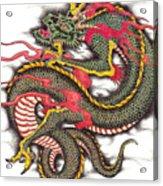 Asian Dragon Acrylic Print by Maria Arango
