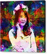 Asian Girl With Crown  Acrylic Print