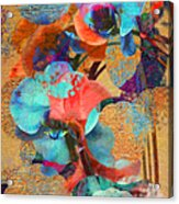 Asian Orchid Abstract Acrylic Print