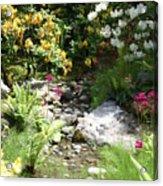 Asian Rock Garden Acrylic Print