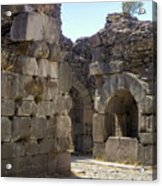 Asklepios Temple Ruins View 4 Acrylic Print