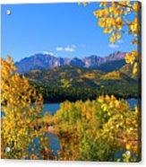 Aspen On Pikes Peak And Crystal Reservoir Acrylic Print