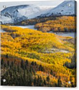 Aspens And Mountains In The Morning Light Acrylic Print