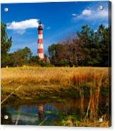 Assateague Lighthouse Reflection Acrylic Print