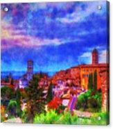 Assisi At Dusk 2 Acrylic Print