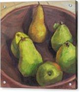 Assorted Pears Acrylic Print