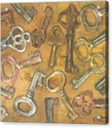 Assorted Skeleton Keys Acrylic Print