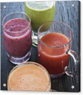 Assorted Smoothies Acrylic Print