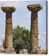 Assos Temple Of Athena Columns Acrylic Print
