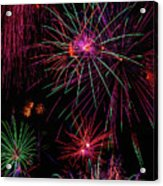 Astonishing Fireworks Acrylic Print