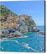 Astonishing Magnificient Manarola In Cinque Terre Acrylic Print