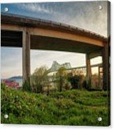 Astoria Bridge Sunrise Acrylic Print