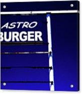 Astro Burger Acrylic Print