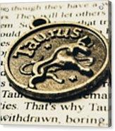 Astrological Definition In Taurus Acrylic Print