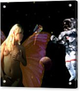 Astronaut And The Fairies Acrylic Print