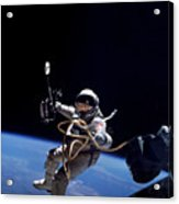 Astronaut Floats In Space Acrylic Print