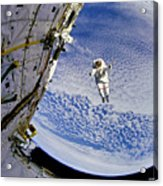 Astronaut In Atmosphere Acrylic Print by Jennifer Rondinelli Reilly - Fine Art Photography