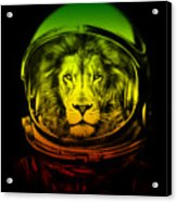 Astronaut Lion Colorful Ready For Space Acrylic Print
