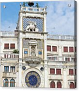 Astronomical Clock At San Marco Square Acrylic Print