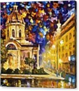 Asuncion Paraguay - Palette Knife Oil Painting On Canvas By Leonid Afremov Acrylic Print