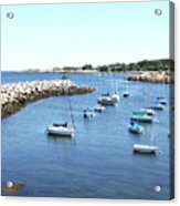 At Anchor In Rockport Ma Harbor Acrylic Print
