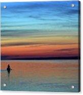 At Dawn In A Canoe  Acrylic Print
