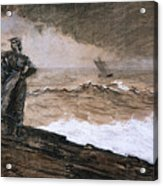 At High Sea Acrylic Print by Winslow Homer