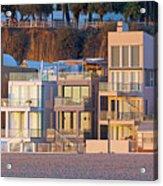 At Home On Santa Monica Beach Acrylic Print