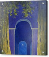 At Night In The Temple Acrylic Print