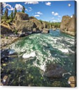 At Riverside Bowl And Pitcher State Park In Spokane Washington Acrylic Print