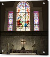 At The Altar In Church Of The Presidents Acrylic Print