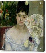 At The Ball Acrylic Print by Berthe Morisot