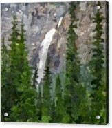 At The Edge Of The Falls Acrylic Print