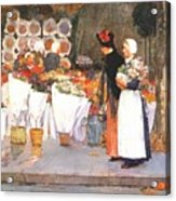 at the florist 1889 Childe Frederick Hassam Acrylic Print