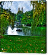 At The Lake In Central Park Acrylic Print