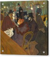 At The Moulin Rouge 1892 95 Acrylic Print