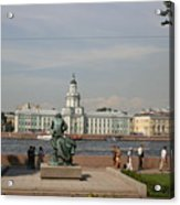 At The Newa - St. Petersburg Russia Acrylic Print