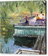 At The Park By The Water Acrylic Print