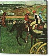 At The Races, Digitally Enhanced, Edgar Degas, Digitally Enhanced Maximum Resolution Acrylic Print
