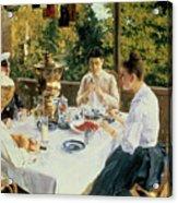 At The Tea-table Acrylic Print
