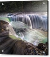 At The Top Of Lower Lewis River Falls Acrylic Print