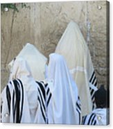 At The Western Wall Acrylic Print