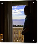 At The Window In Taormina Acrylic Print