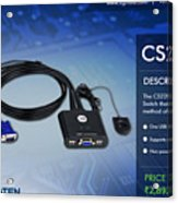Aten's 2 Port Usb Cable Kvm Switch - Cs22u Acrylic Print